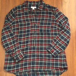 Beachlunchlounge S/P plaid shirt/ blouse like new